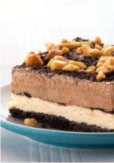 Peanut-Chocolate Mud Pie Squares – This chilled mud pie is stacked with chocolate pudding and peanut butter fluff for a crunchy, creamy, icy take on a restaurant favorite.
