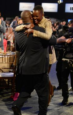 Steve McQueen even carried Lupita to stage when she won her Independent Spirit Award!