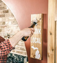 Custom State Wall-Mounted Wood Bottle Opener by Fireside Goods on Scoutmob