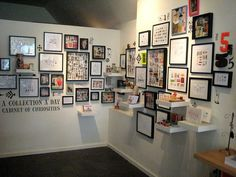 A Collection a Day Cabinet of Curiosities installation by Lisa Congdon