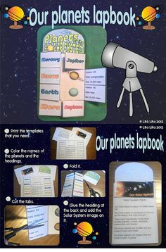 Great lapbook exploring planets