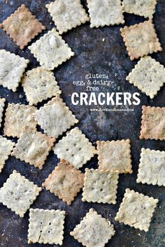 Gluten-Free Vegan Crackers