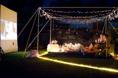 backyard outdoor movie party. yes please.