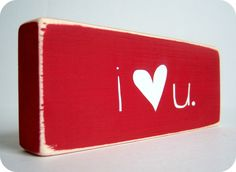 i Heart u Great Valentine's decor by bubblewrappd on Etsy, Make this for my kids rooms.
