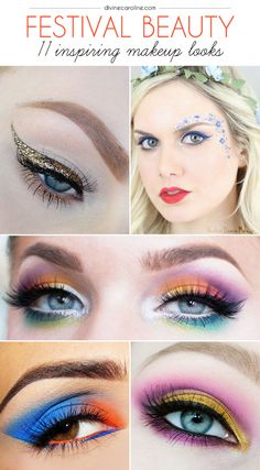 Get out of your box this festival season and try one of these bold beauty looks! #festival #musicfestival #festivalbeauty #makeup