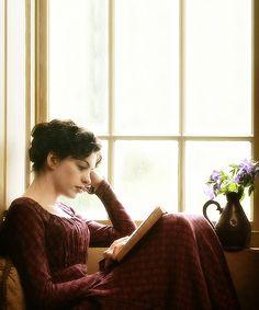 Anne Hathaway as Jane Austen in Becoming Jane   ~ a wonderful film.