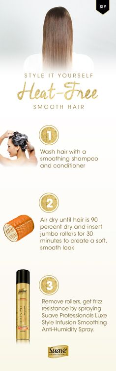 Step 1 wash your hair and air dry step 2 brush hair and roll 1 inch