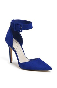 Jessica Simpson 'Cayna' Suede D'Orsay Ankle Strap Pump | Nordstrom
