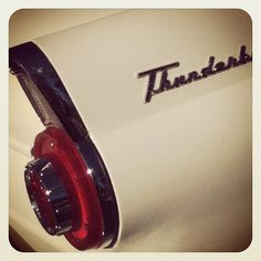 Rocket tail fin game down hard #ford #thunderbird #50s #classic #hotrod