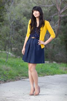 Navy and yellow!