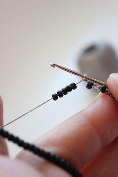 Crochet beaded jewelry