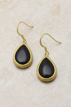 Ebony Teardrop Earrings | Emma Stine Jewelry Set