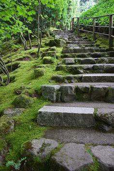 cobblestone stairway