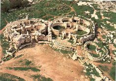 The megalithic temples of Malta. The temples were the result of several phases of construction, from circa 3000 to 2200 BC.