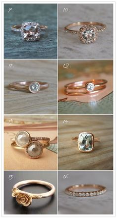 Rose gold rings.
