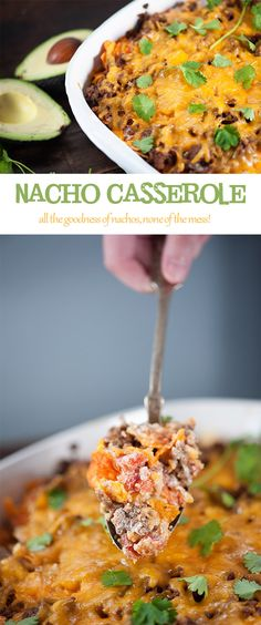 Nacho Casserole - Leave out those chips and this would make a great casserole for a low carb dinner!