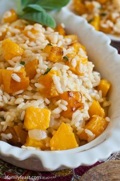 Butternut Squash Risotto | www.afamilyfeast.com | #risotto Pure ...