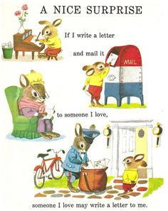 <3333  // If I write a letter and mail it to someone I love, someone I love may write a letter to me. | Illustrator: TBD