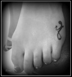 Mother & Daughter tattoo..love it, not the placement and I would add two children...