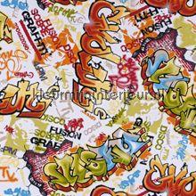 Graffiti oranje/groen/blauw gordijnstoffen bij kleurmijninterieur.nl