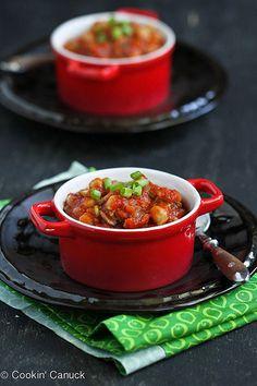 Spiced Mushroom, Chickpea & Tomato Stew Recipe | cookincanuck.com #vegetarian #vegan #MeatlessMonday