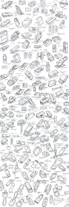 Product Sketching  Ideation by Mason Umholtz, via Behance