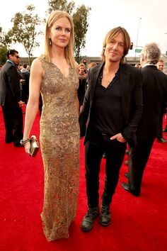 Nicole Kidman Goes For the Gold With Keith Urban at the Grammys