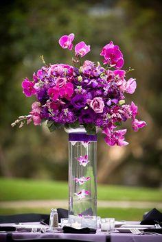 Purple centrepiece design.