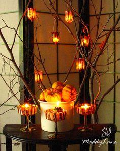 Elegant Halloween #halloween #autumn #orange #party #decor