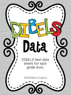 A DIBELS data binder that will help you organize your student's DIBELS scores.  Each page has a spot for beginning, middle, and end of year scores.  It also has places for Progress Monitoring that takes place between each assessment.  I have included a recording sheet for each grade level K-5.