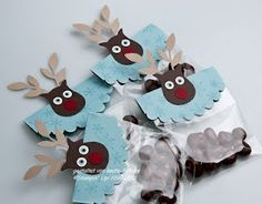 reindeer..Owl punch and bird punch! Stampin Up