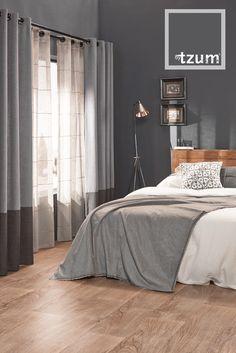 ... stoere grijstinten. Mooie #gordijnen voor de woonkamer of slaapkamer