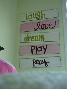 Girls bedroom ideas on pinterest girls bedroom for Signs for little girl rooms
