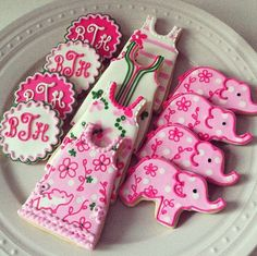 Lilly Pulitzer elephant cookies!!!