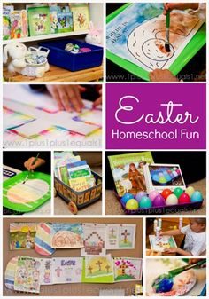 Easter Homeschool Fun {printables, crafts, Resurrection Eggs, and more}