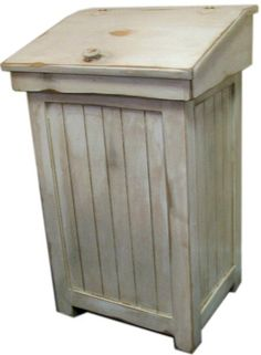 Distressed Primitive Country Trash Bin by CountryFurniture on Etsy, $139.00