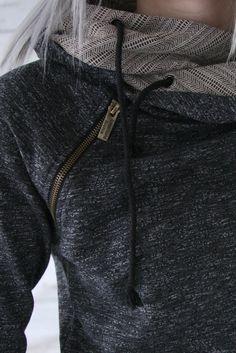 Double Hooded Sweatshirt - Charcoal & Aztec [PREORDER]
