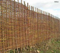 Willow and hazel hurdles