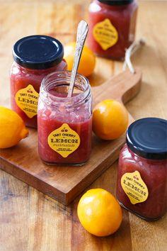 Tart Cherry & Meyer Lemon Marmalade (with free printable jar labels!)