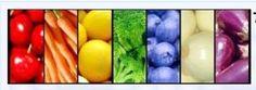 rainbow food = #healthy food