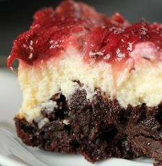 Strawberry cheesecake brownies.