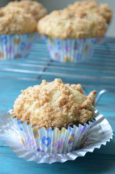 Sour Cream Coffee Cake Muffins with Streusel Topping
