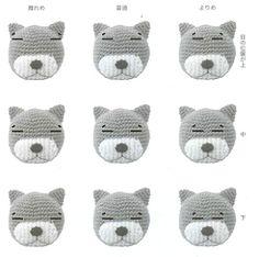 Amigurumi Face Ideas : Tutorial ? Amigurumi embroidering on Pinterest Amigurumi ...