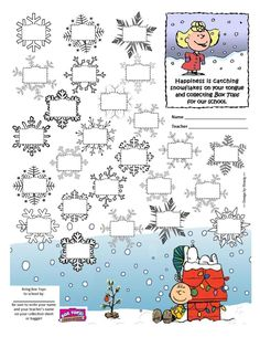 Box Tops Collection Sheet - #Peanuts #Christmas #CharlieBrown #BoxTops #btfe