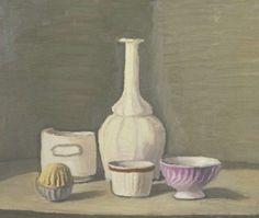 Giorgio Morandi: Italian still life painter & print maker: Subtle tones and beautiful composition.