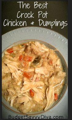 The Best Crock Pot Chicken and Dumplings Recipe