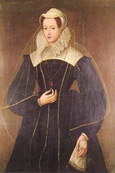 A portrait of Mary Queen of Scots, by an unknown artist, circa 1575. Glasgow Art Gallery.