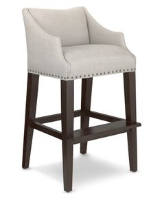 389 Empire Dining Chair Linen Natural Dimensions Side
