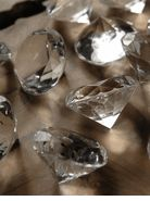 "Large Acrylic Diamonds 1.5""  (12 Diamonds) $9  each/ 3 for $8  each   great Web site for bulk stuff - including ribbons, paper lanterns, etc. Cheap! cuz i wanna have BLING everywhere! ;)  #RobbinsBrothers #GetEngaged"