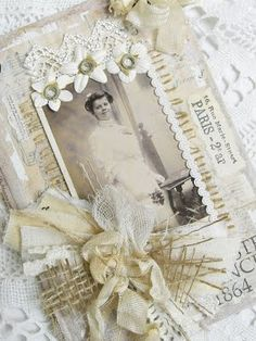 Altered bookcover wall hanging by Viola from the blog Shabby CHic Inspired